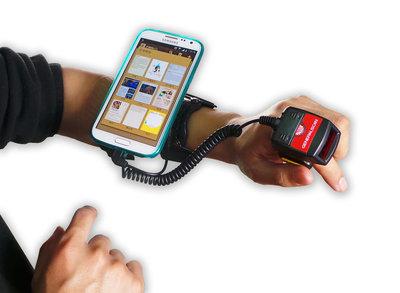 Scanset met 2D ringscanner en armband voor smartphone
